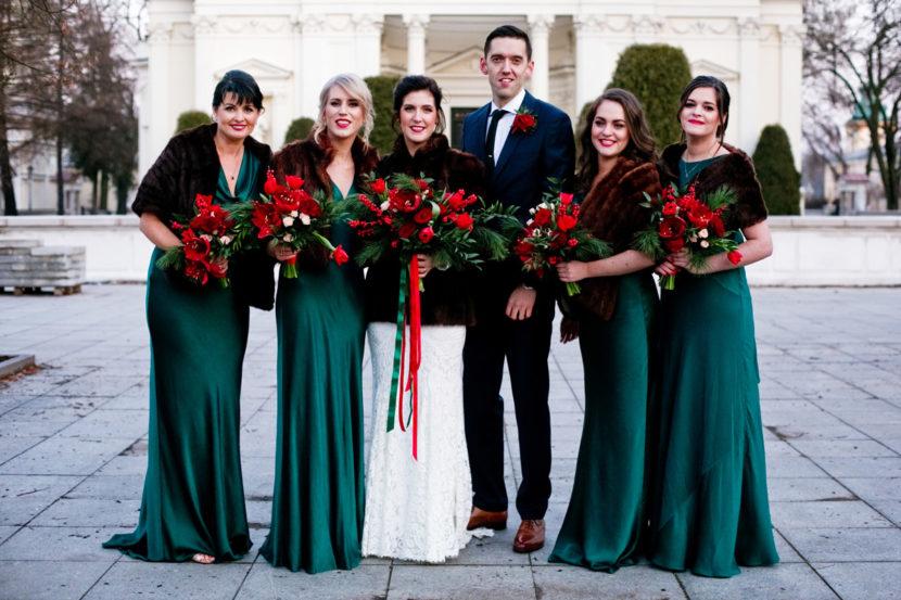 bukiety ślubne w zimowym stylu