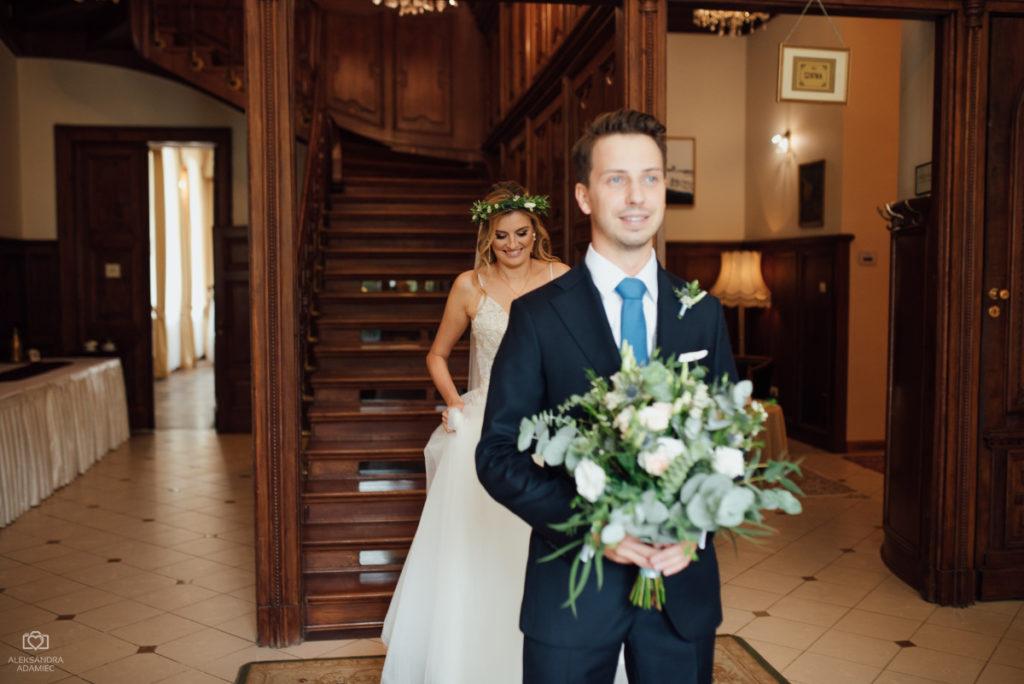 szczęśliwa para przed samym ślubem