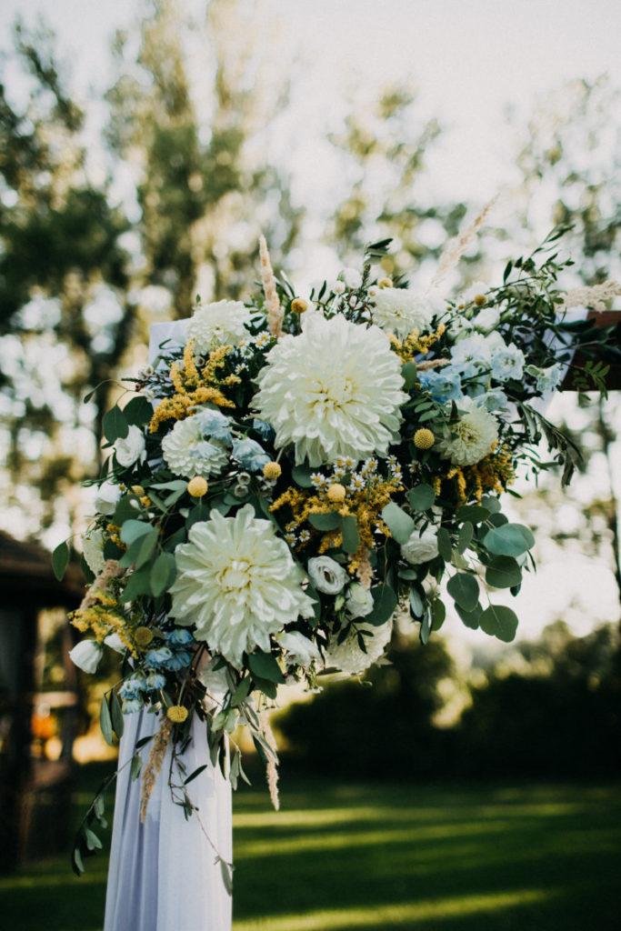 dekor kwiatowy z dalii