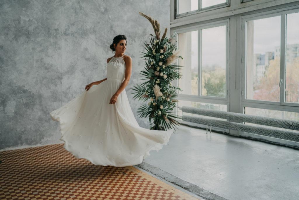 scenografia do sesji sukien ślubnych