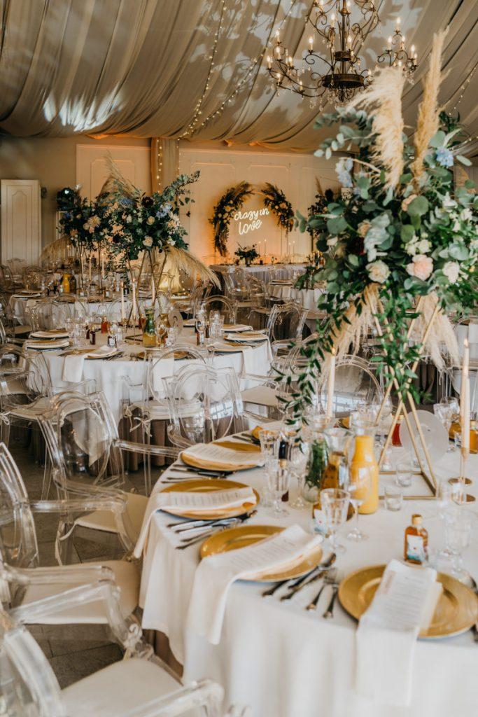 aranżacja sali weselnej w stylu boho